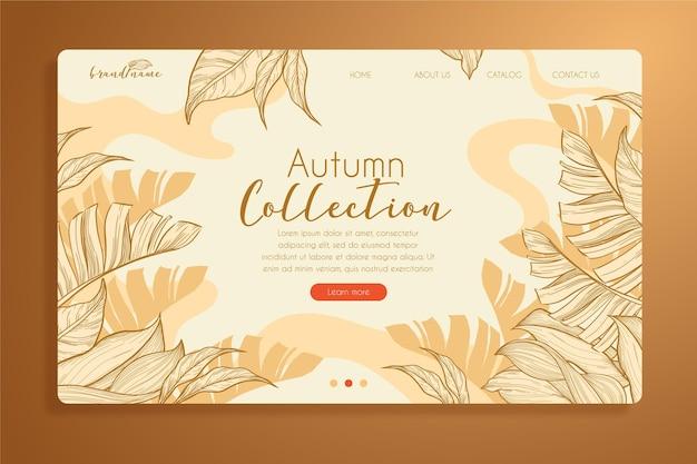 Modèle De Page De Destination D'automne Vecteur Premium