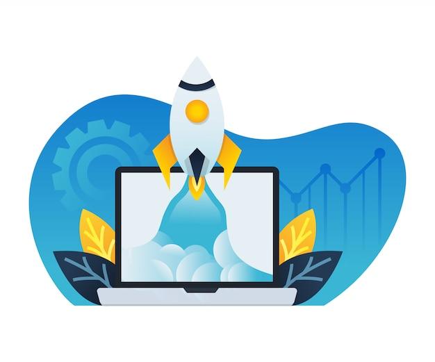 Modèle De Page De Destination De Boostez Votre Entreprise. Vecteur Premium
