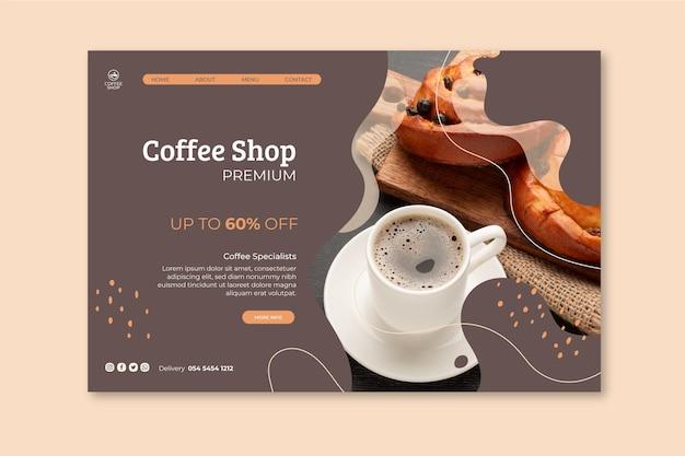 Modèle De Page De Destination De Café Vecteur gratuit