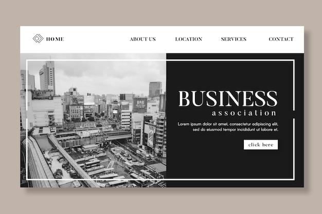 Modèle De Page De Destination Commerciale Générale Vecteur gratuit