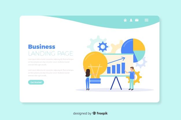 Modèle De Page De Destination De Concept D'affaires Vecteur gratuit