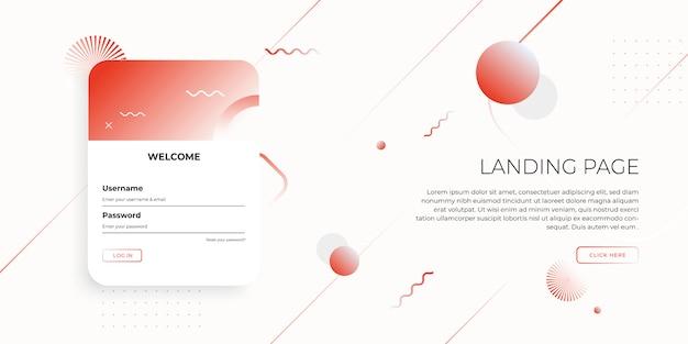 Modèle De Page De Destination Avec Un Design Géométrique Pour La Conception De Site Web D'entreprise. Vecteur Premium