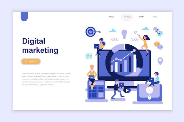 Modèle de page de destination du marketing numérique Vecteur Premium