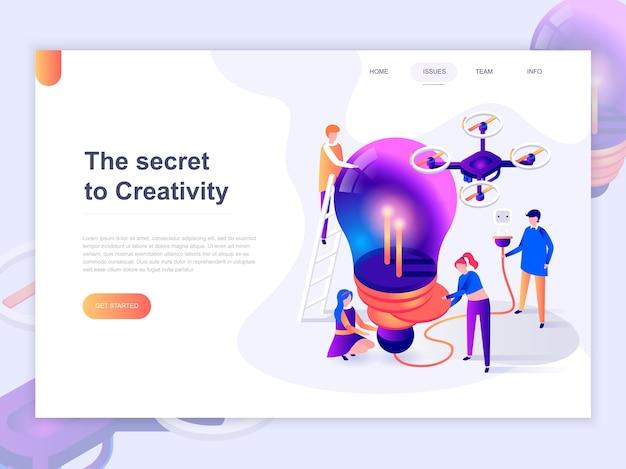 Modèle de page de destination du processus de création et de brainstorming. Vecteur Premium