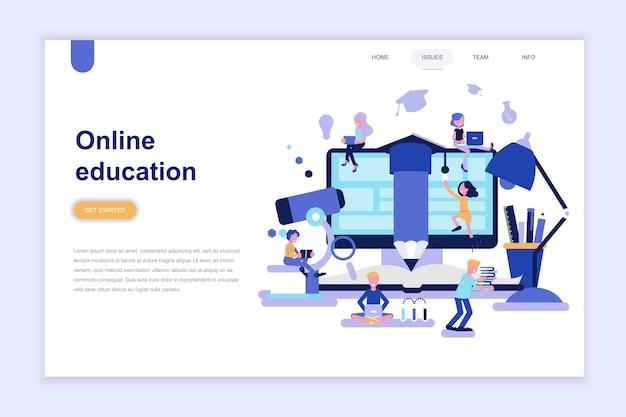 Modèle de page de destination de l'éducation en ligne Vecteur Premium