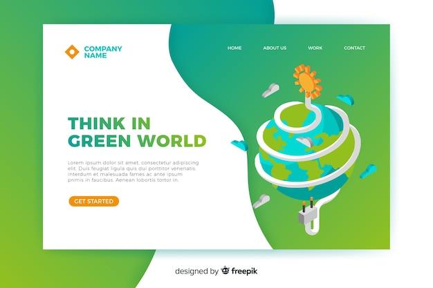 Modèle de page de destination d'énergie propre Vecteur gratuit