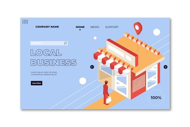 Modèle De Page De Destination D'entreprise Locale Vecteur gratuit