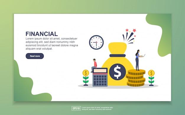 Modèle de page de destination de financial Vecteur Premium