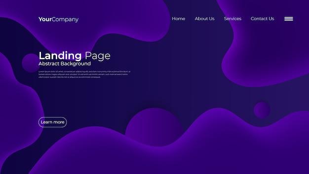 Modèle de page de destination fluide Vecteur Premium