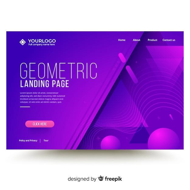 Modèle De Page De Destination De Formes Géométriques Vecteur gratuit