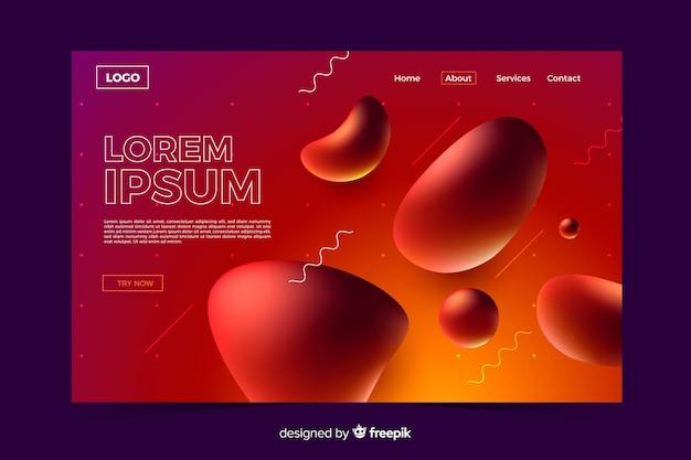 Modèle De Page De Destination Formes Liquides Abstraites Vecteur gratuit