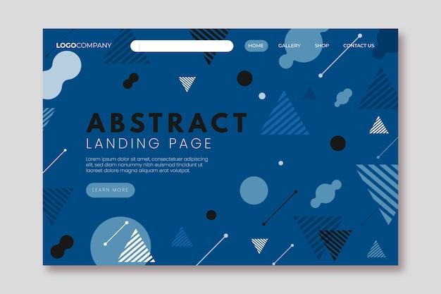 Modèle de page de destination géométrique couleur de l'année 2020 Vecteur gratuit
