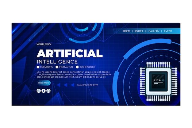 Modèle De Page De Destination De L'intelligence Artificielle Vecteur gratuit