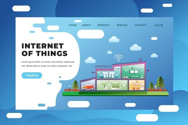 Modèle De Page De Destination De L'internet Des Objets Vecteur Premium