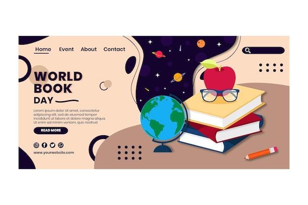 Modèle De Page De Destination De La Journée Mondiale Du Livre Vecteur gratuit