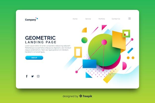 Modèle de page de destination de modèles géométriques Vecteur gratuit