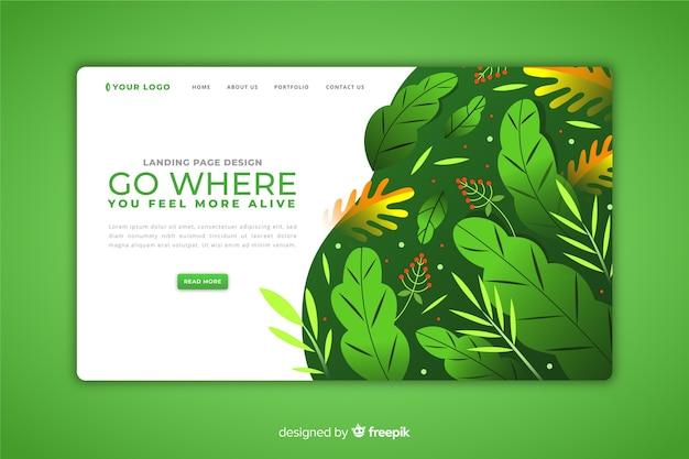 Modèle de page de destination nature concept Vecteur gratuit
