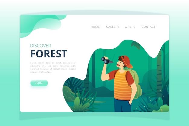 Modèle de page de destination nature Vecteur gratuit