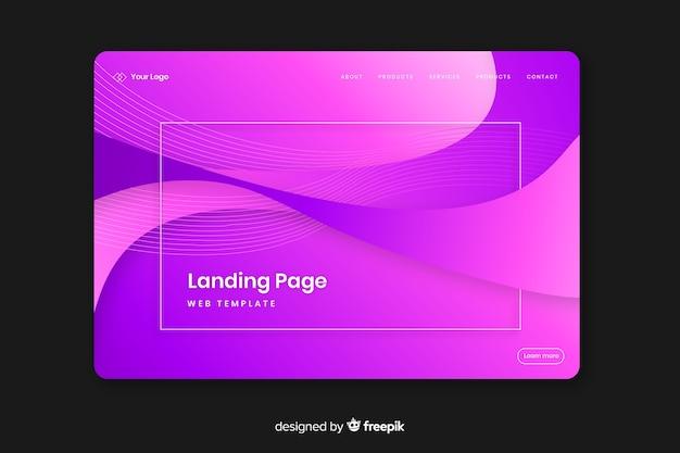 Modèle de page de destination plate abstraite Vecteur gratuit