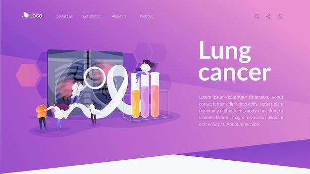 Modèle De Page De Destination Pour Le Cancer Du Poumon Vecteur gratuit
