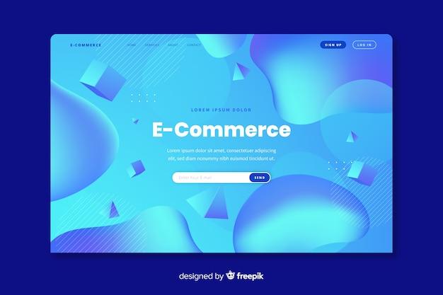 Modèle de page de destination pour le commerce en ligne Vecteur gratuit