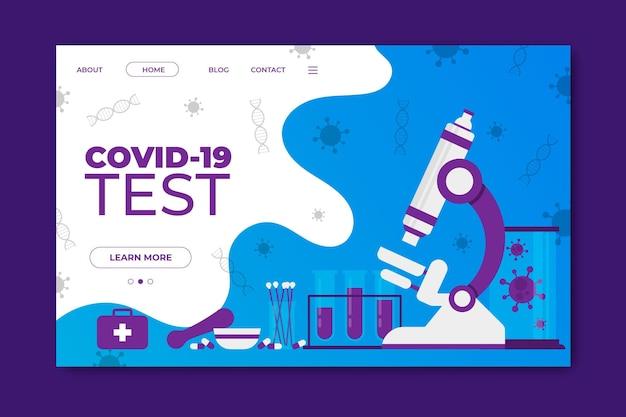 Modèle De Page De Destination Pour Le Coronavirus Vecteur gratuit