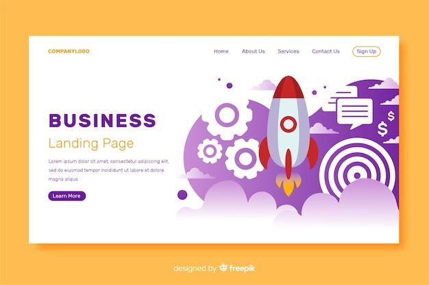 Modèle de page de destination pour démarrage d'entreprise Vecteur gratuit