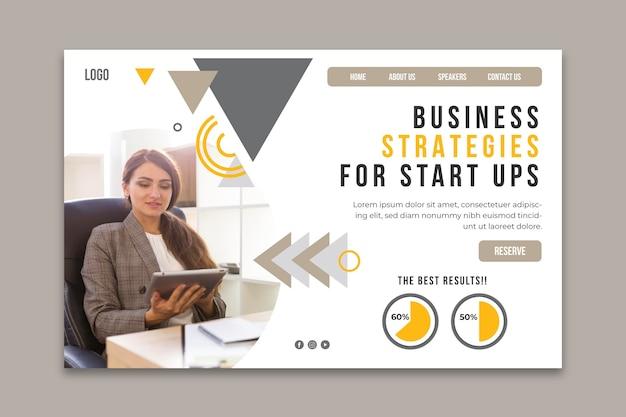 Modèle De Page De Destination Pour Les Entreprises Générales Vecteur gratuit