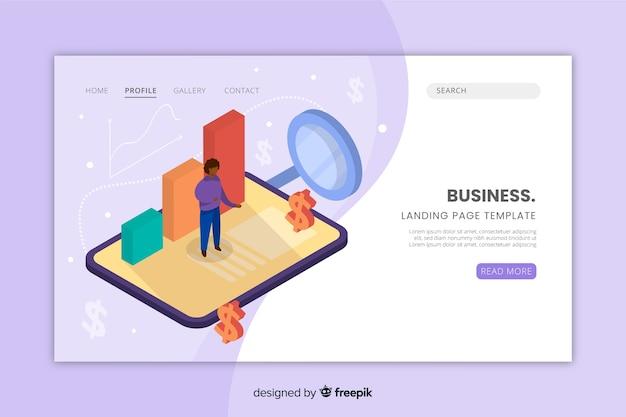 Modèle de page de destination pour site web professionnel Vecteur gratuit