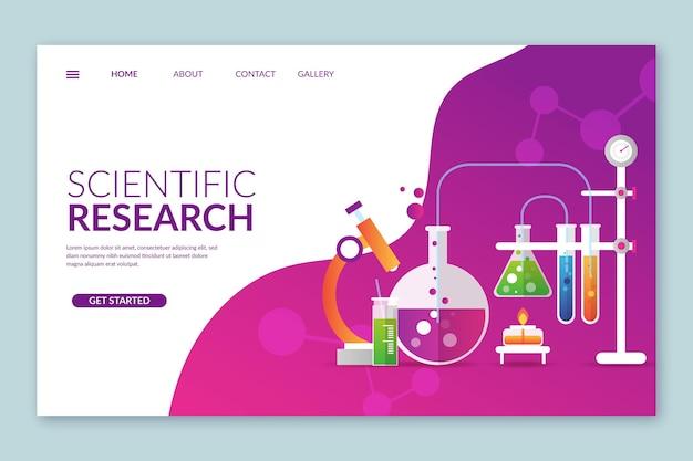 Modèle De Page De Destination De La Recherche Scientifique Vecteur gratuit