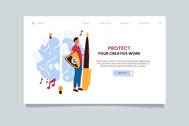 Modèle De Page De Destination Relative Aux Droits D'auteur Vecteur gratuit