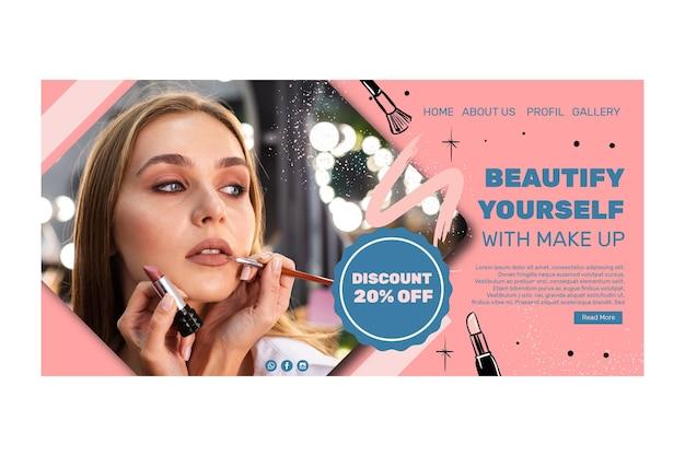 Modèle De Page De Destination De Salon De Beauté Vecteur gratuit