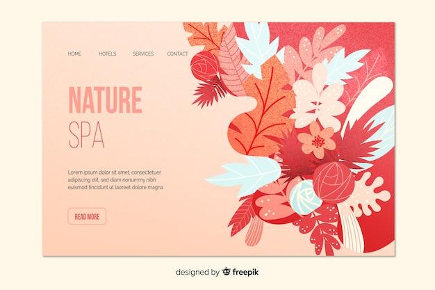 Modèle de page de destination spa nature Vecteur gratuit