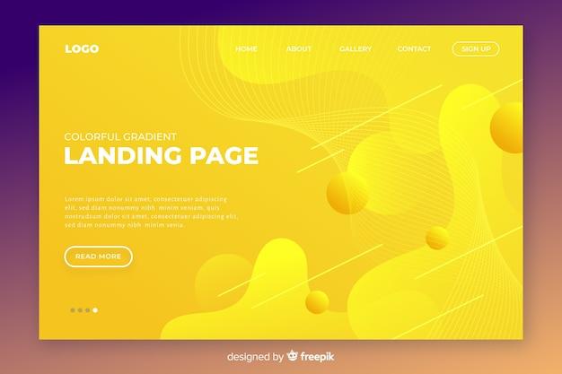 Modèle de page de destination tridimensionnelle abstraite Vecteur gratuit