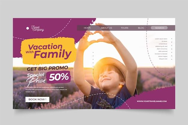 Modèle De Page De Destination De Vente De Voyage Vecteur gratuit