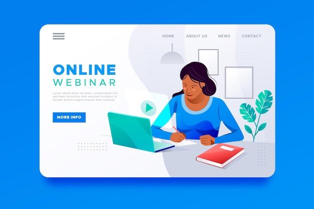 Modèle De Page De Destination De Webinaire Vecteur gratuit