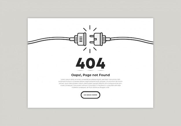 Modèle De Page D'erreur 404 Vecteur Premium