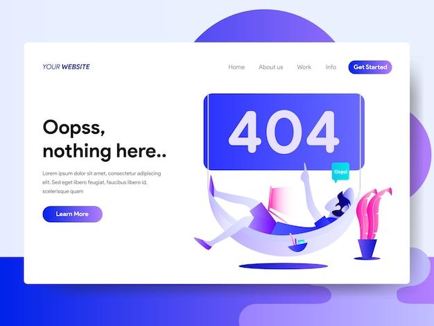 Modèle de page de renvoi d'erreur 404 Vecteur Premium