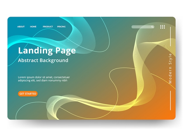 Modèle de page de renvoi web, bannière, présentation Vecteur Premium