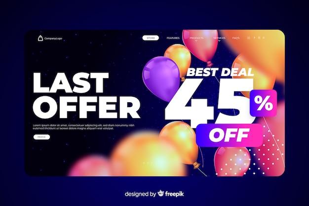 Modèle de page de vente abstraite Vecteur gratuit