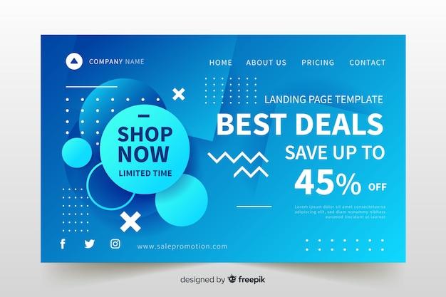 Modèle de page de vente de vente à plat Vecteur gratuit
