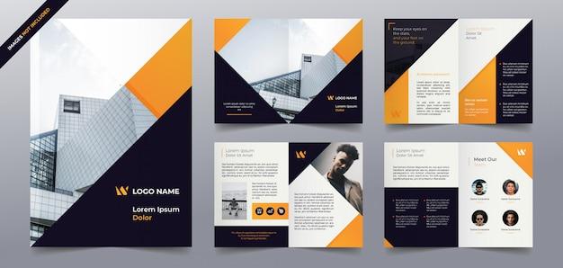 Modèle De Pages De Brochure D'entreprise Vecteur Premium