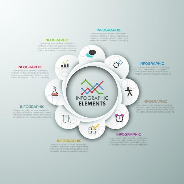 Modèle de papier options d'infographie moderne Vecteur Premium