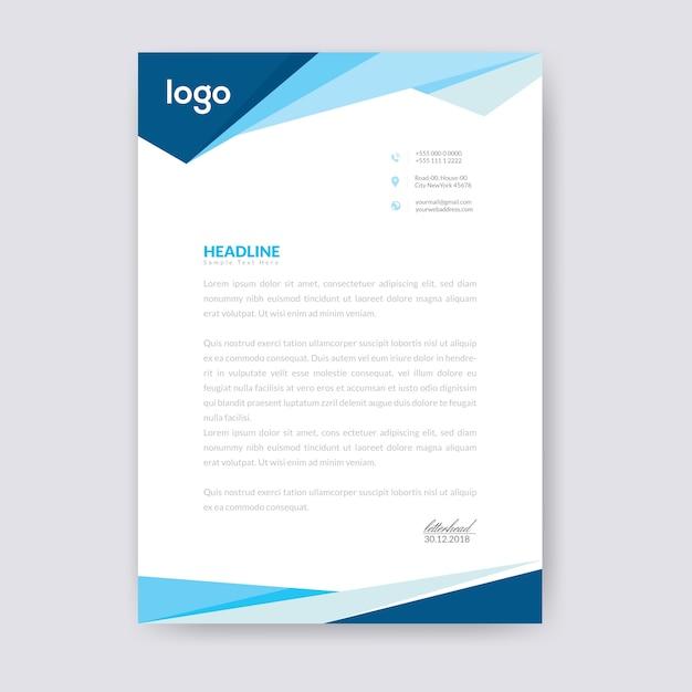 Modèle de papier à en-tête abstrait Vecteur Premium