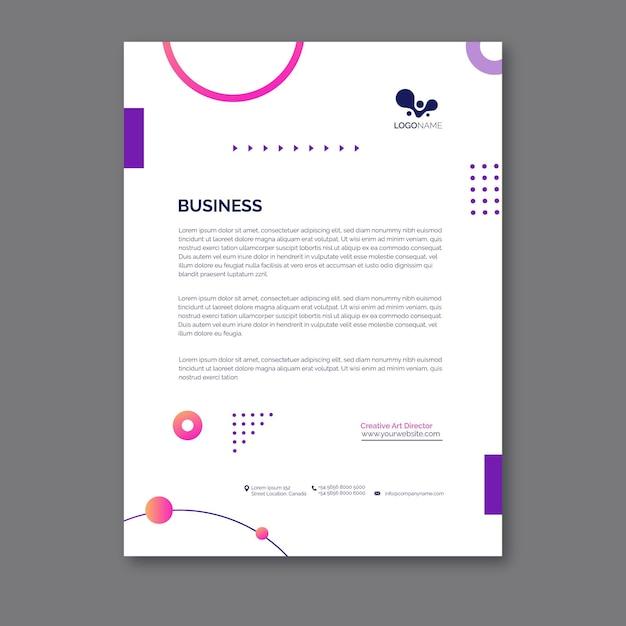 Modèle De Papier à En-tête Commercial Général Vecteur gratuit