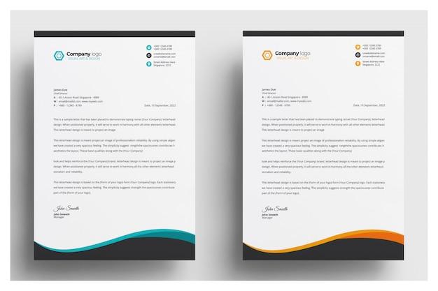Modèle De Papier à En-tête Créatif Vecteur gratuit