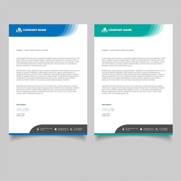 Modèle De Papier à En-tête De Création D'entreprise Vecteur Premium