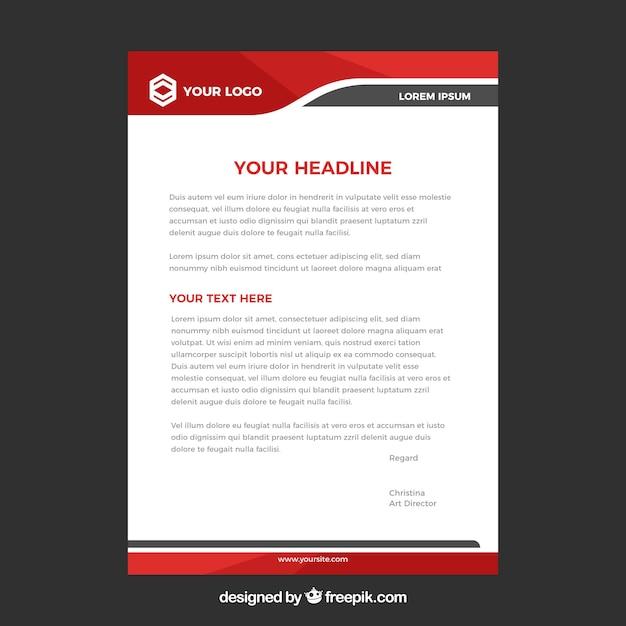 Modèle De Papier à En-tête Dans Un Style Plat Vecteur Premium