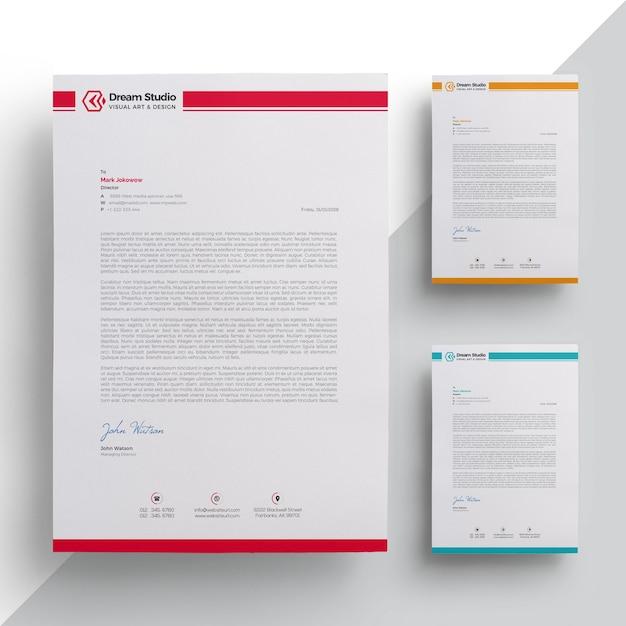 Modèle de papier à en-tête élégant Vecteur Premium