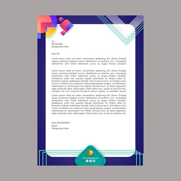 Modèle De Papier à En-tête De Marketing Commercial Vecteur gratuit